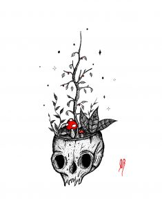Botanical Skull. by VasilisLam