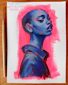 brushtober 04 // portrait by loish
