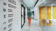 Wayfinding in ABB's new office in Kraków