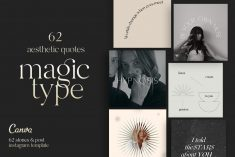 62 Aesthetic Quotes – Magic Type | Creative Instagram Templates