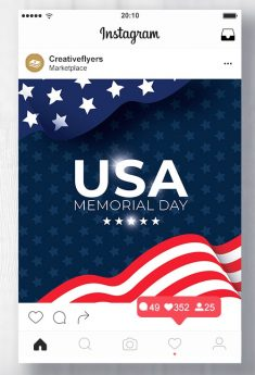 Memorial Day Flyer Templates