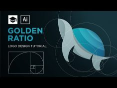 How to design a logo with golden Ratio | Adobe Illustrator Tutorial