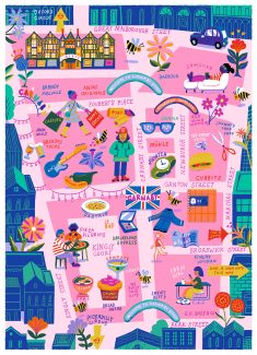 Map and spots for Carnaby Magazine
