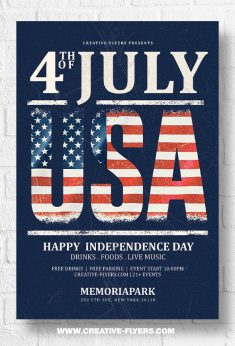 4th July Flyer Templates – Photoshop PSD