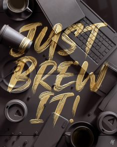 Just Brew It! / Various Typography 2021