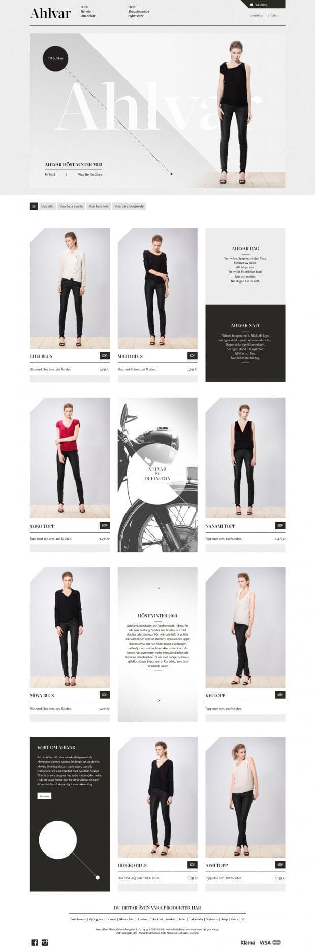 Ahlvar – Web Design