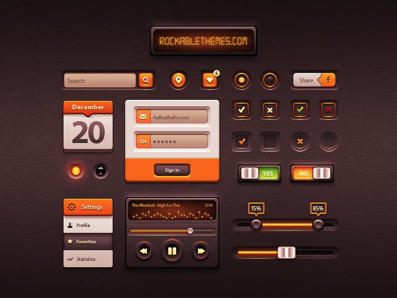 Caramel UI – Free User Interface Kit
