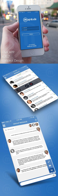 Chat APP iOS 7 Concept Design