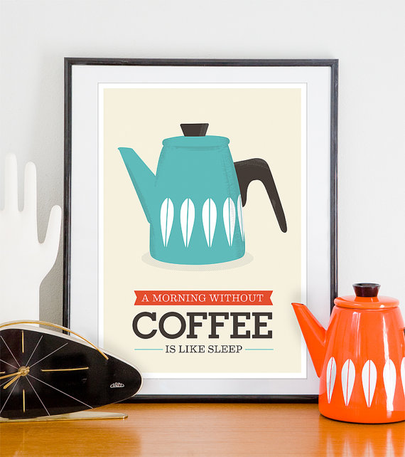 Coffee poster art by handz