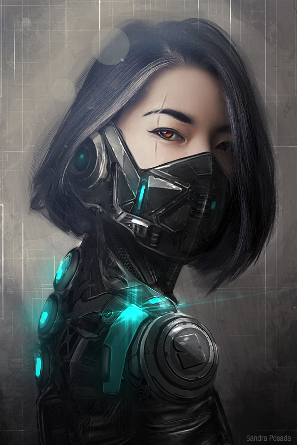 Concept Art Cyber warrior