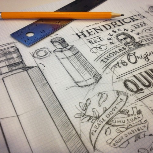 Hendricks Packaging Design Sketches