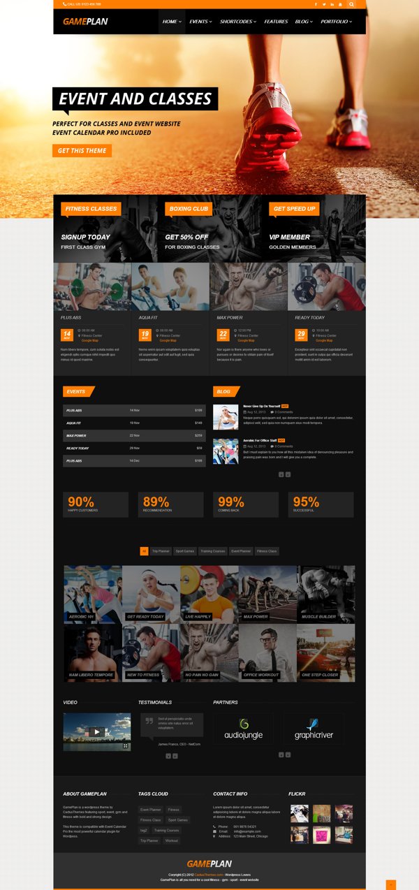 Gameplan – Gym Fitness WordPress Theme