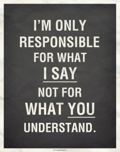 I'm only responsible …