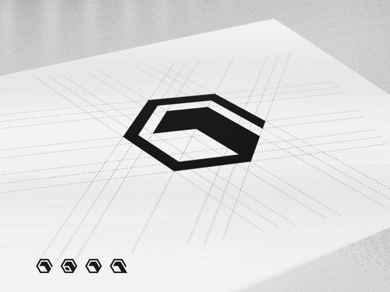 One Pixel – Brand Mark 3D Cube Logo Construction