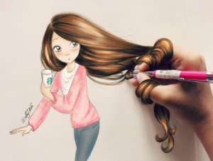 Starbucks Girl – by DebbyArts