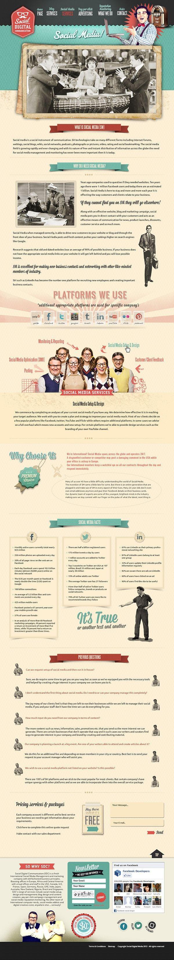 Subpage Web Design by Webvilla