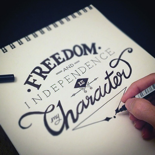 freedom & independence is my character.
