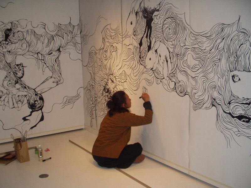Incredible drawing by Yosuke Goda