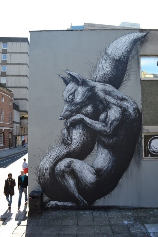 Great piece by ROA in Bristol, UK