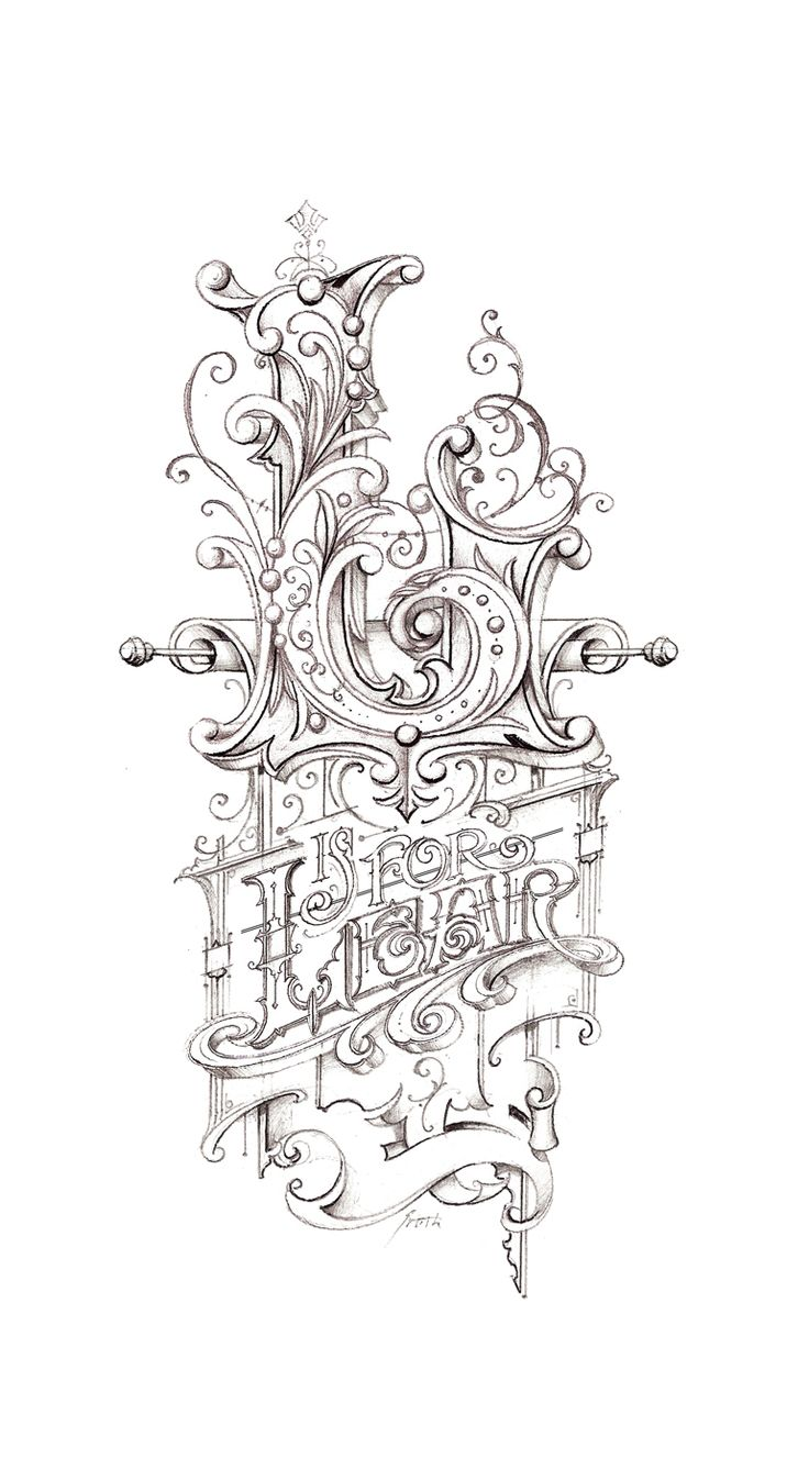 Lear sketch hand lettering
