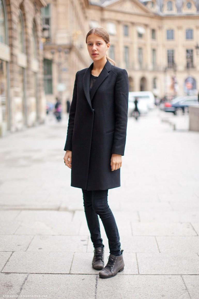 black boots coat
