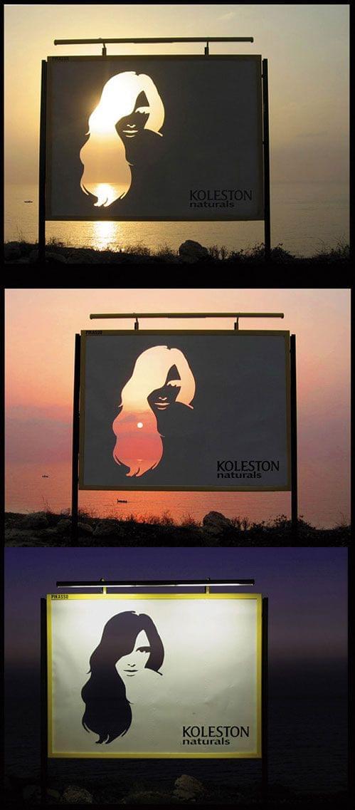 Hair color billboard