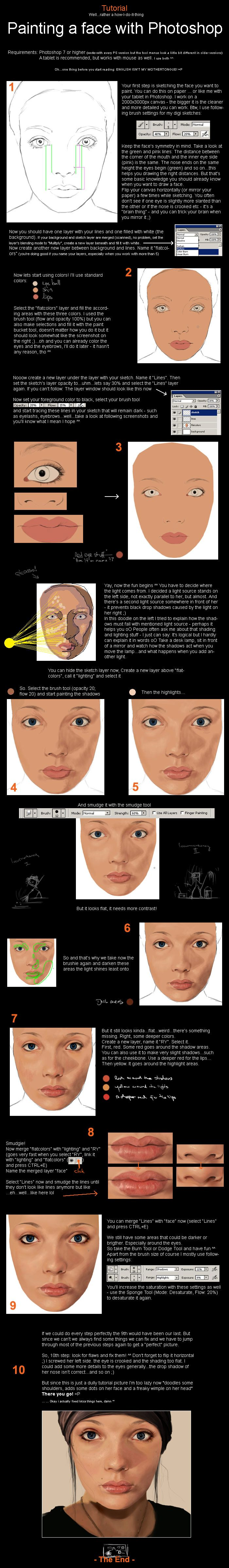 Photoshop – Painting a Face | Tutorials