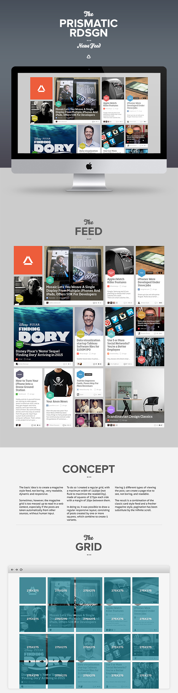 Prismatic NewsFeed Concept Redesign