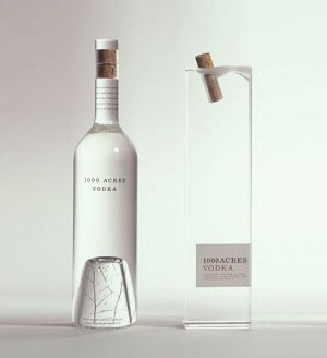 simple vodka bottle design.