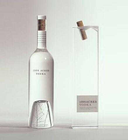simple vodka bottle design.
