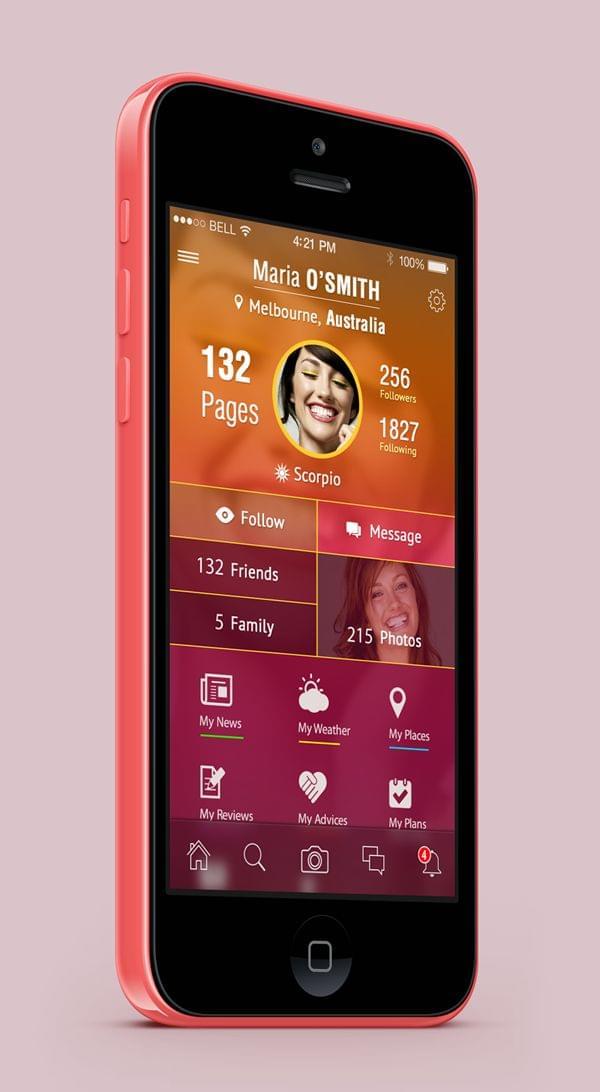 Student Social App ios 7