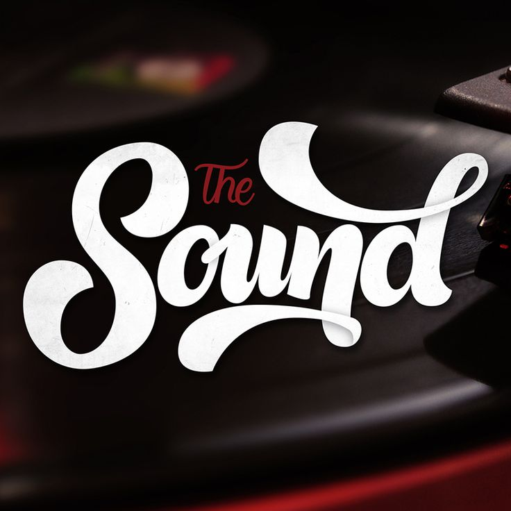 The Sound typography design by Jason Vandenberg