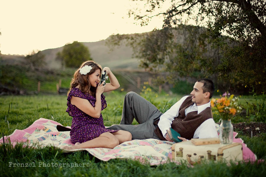 Vintage Engagement Session: Dianne and Juan