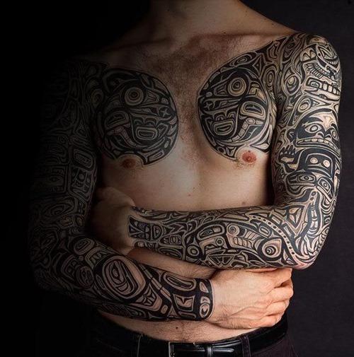 Awesome Haida Tattoo Design for Men