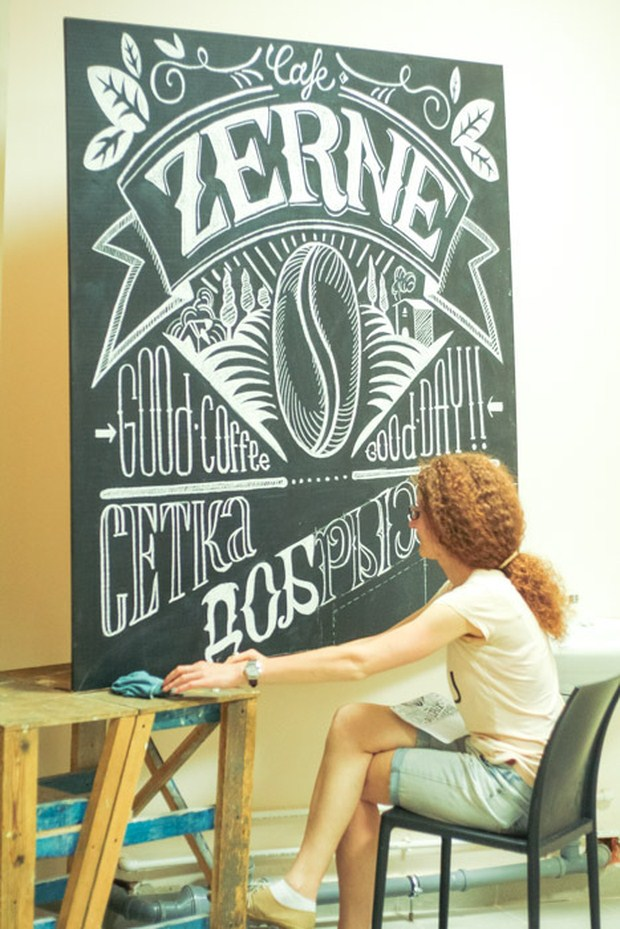 Beautiful Chalk Lettering Typography
