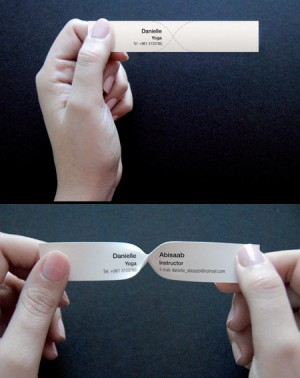 Twist to Read Business Card