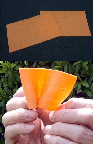 Flexible Business Cards