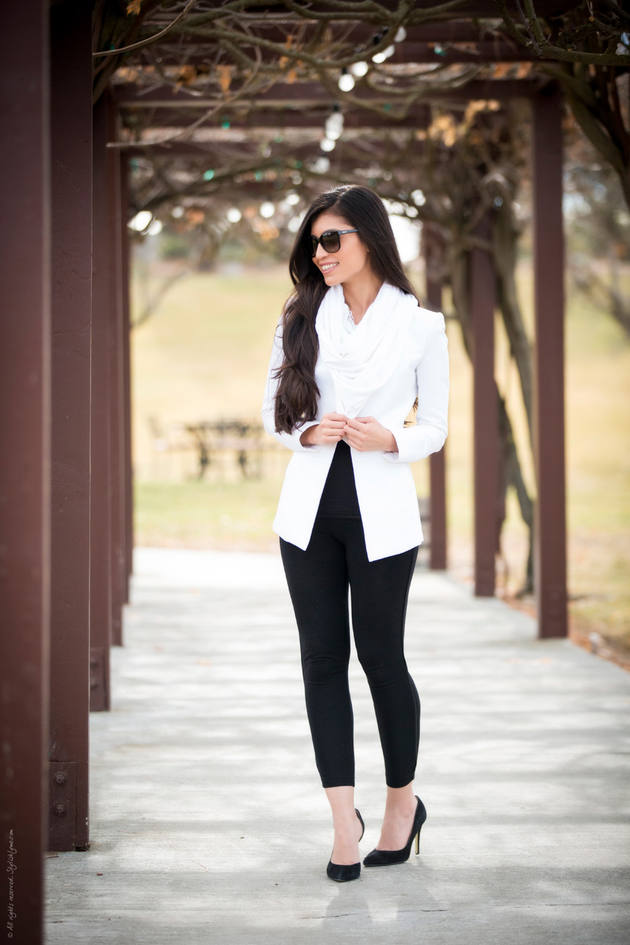 Black And White Winter Outfit