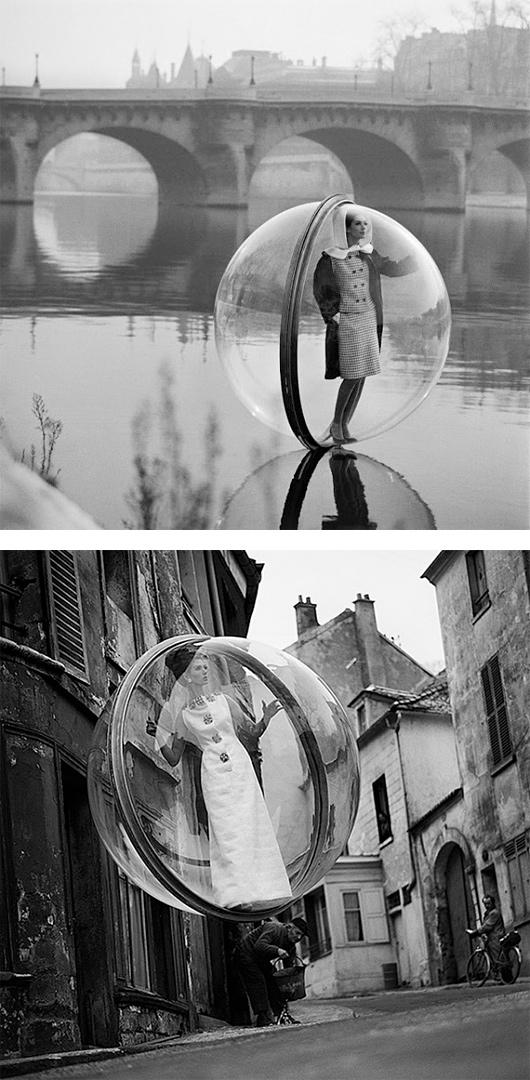 Bubbles Over Paris by Melvin Sokolsky