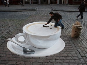 Coffee 3D Street Art | Awesome
