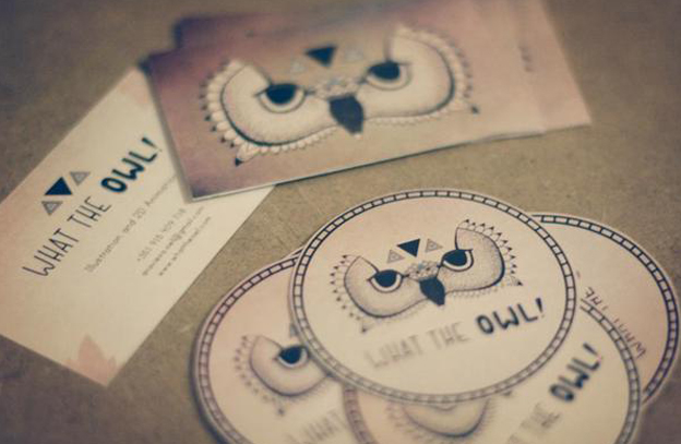 Creative owl business card designs on inspirationde creative owl business card designs colourmoves