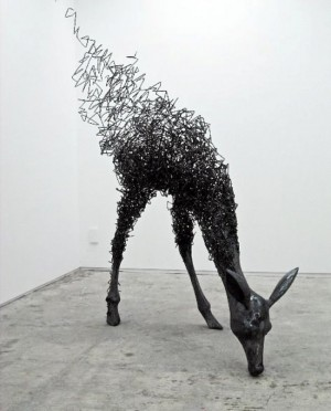 vanishing deer – Sculpture art by Tomohiro Inaba