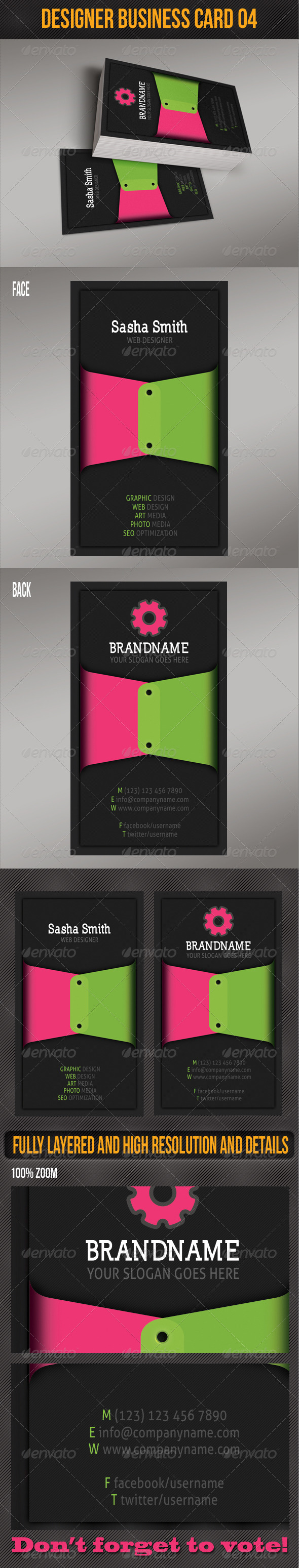 Business Card for Designers