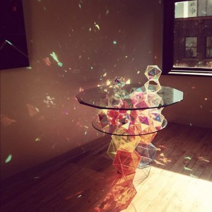 Sparkle Geometric Table by John Foster