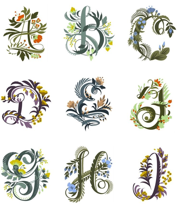 Pretty Floral Fonts