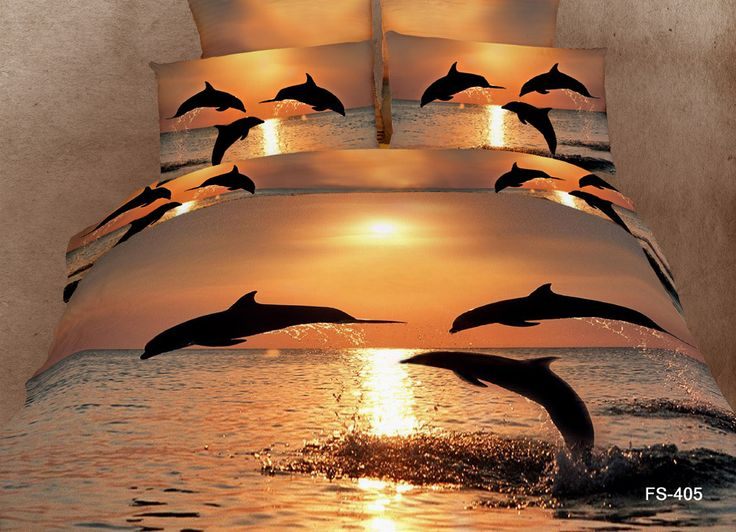 3D Dolphin Printed Bedroom bedlinen duvet Cover Set | Aliexpress.com