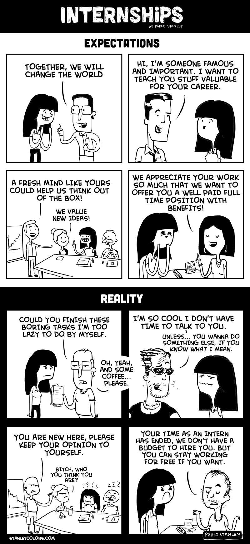 Internships: Expectation vs. Reality [COMIC]