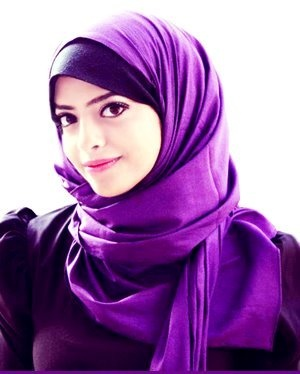 Beautiful Smile she has | Purple Hijab..