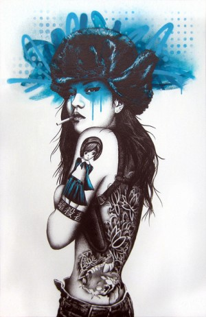 Beautiful Artistic Female Illustrations by Fin Dac