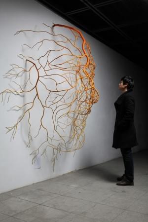 "Sun-Hyuk Kim: Metal 2010 Sculpture ""The way to happiness II"""